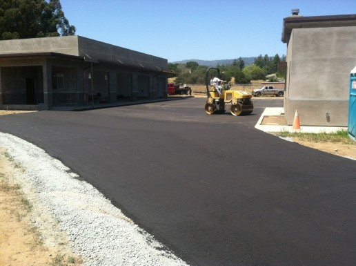 Black Asphalted Roadway to new Development