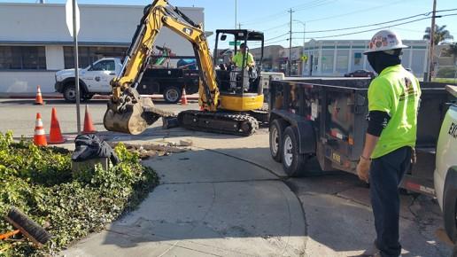 Watsonville Grading & Excavation workers
