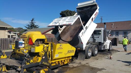 Watsonville Grading & Excavation trucks