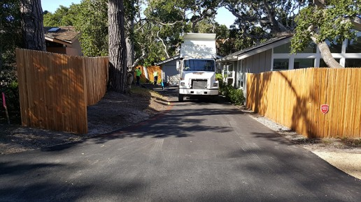 watsonville grading truck in driveway