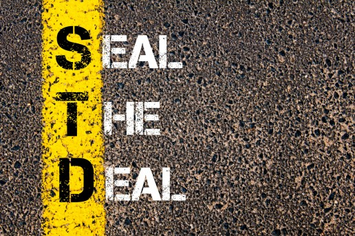 STD Acronym on Asphalt - Seal the Deal